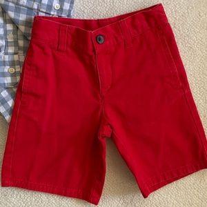 Janie and Jack Boys Summer Red Shorts EUC SIZE 5